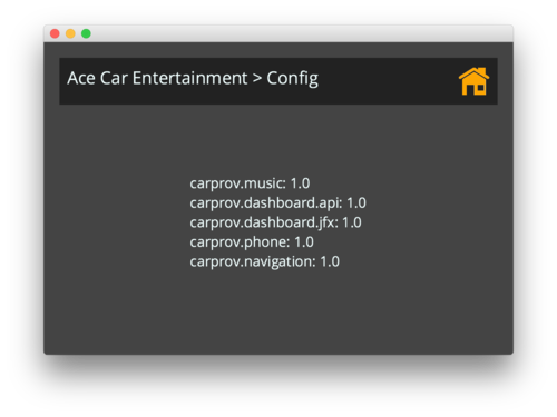Carprov modules loaded