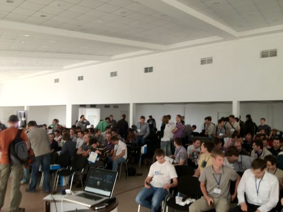 Audience assembling before my Hibernate Performance Tuning talk